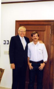 Dusty Smith with Elder L. Tom Perry